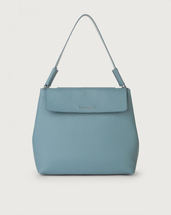 Orciani Uma Soft leather shoulder bag Leather Light blue