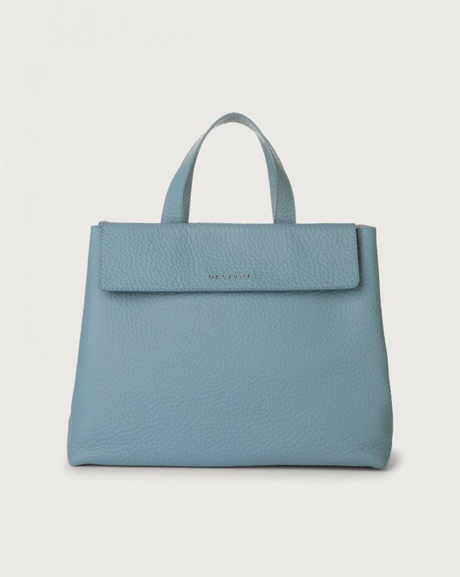 Orciani Uma Soft leather handbag Leather Light blue