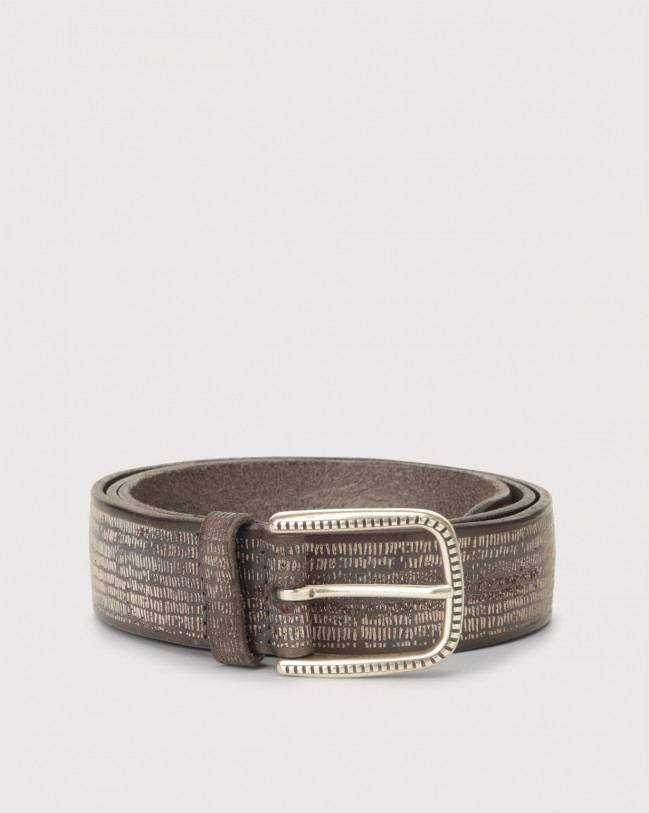 Orciani Bull Soapy leather belt Leather Grey