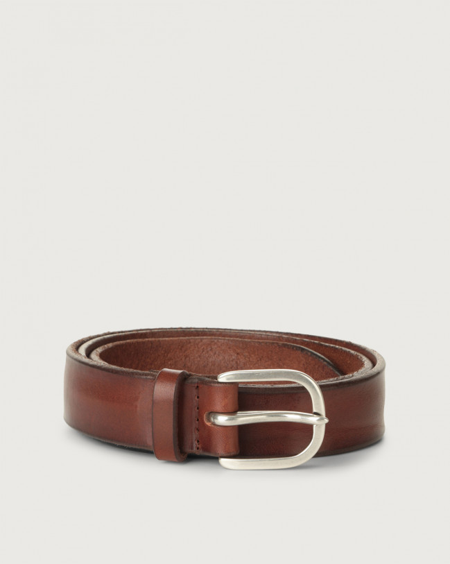 Orciani Bull Soft leather belt 3 cm Leather Brown