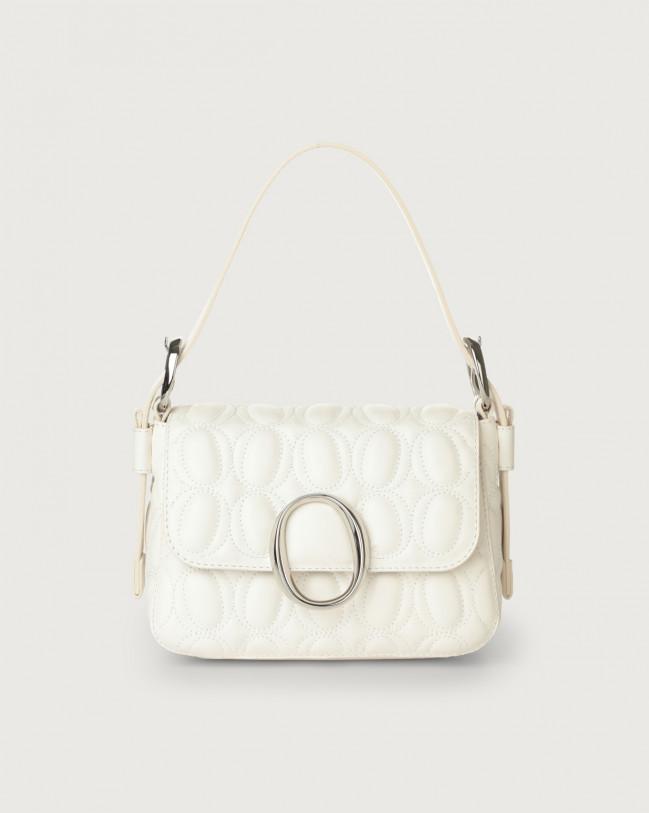 Orciani Soho Matelassé leather mini bag with strap Leather White