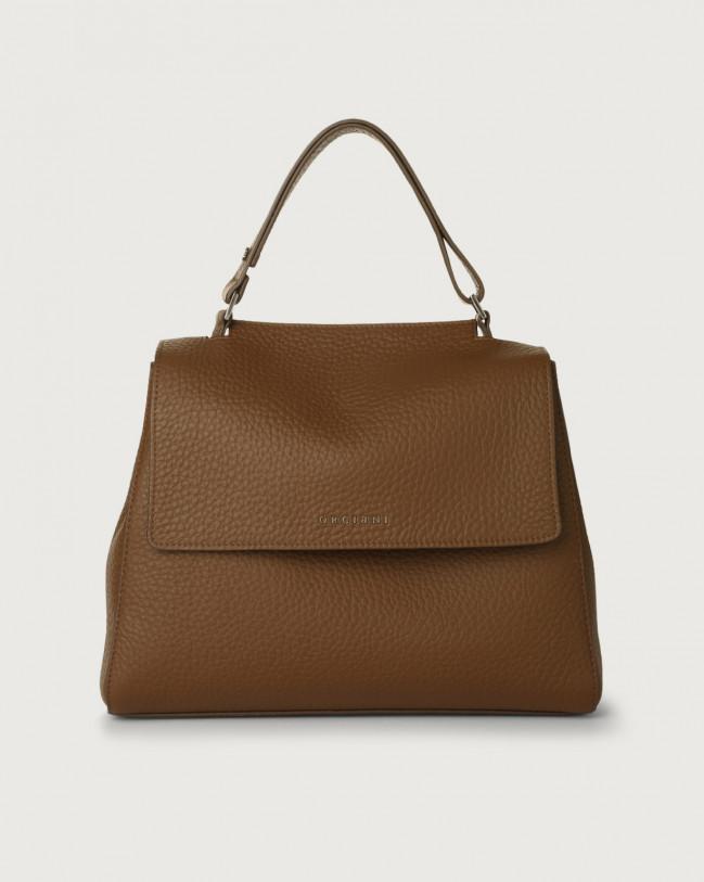 Orciani Sveva Soft medium leather shoulder bag with strap Leather Caramel