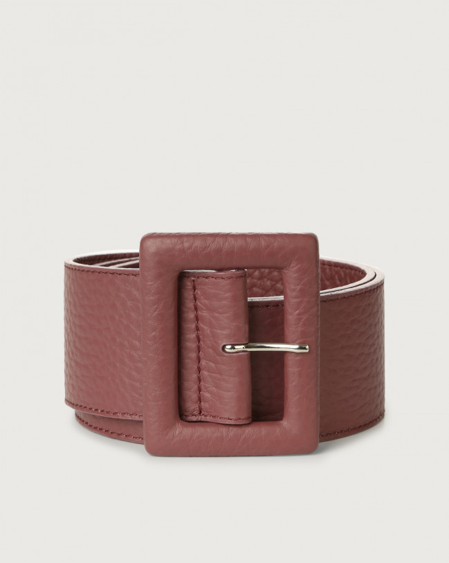 Orciani Soft high waist leather belt Leather Terracotta