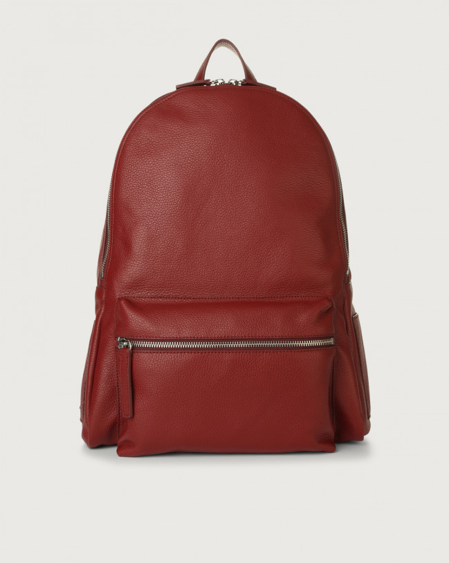 Orciani Micron leather backpack Leather Bordeaux
