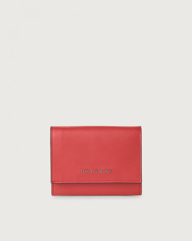 Orciani Liberty small leather envelope wallet Leather Red