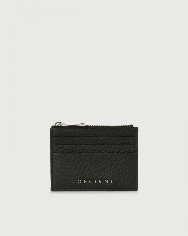 Orciani Soft leather card holder Leather Black