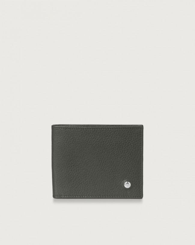 Orciani Micron leather wallet Leather Olive Green