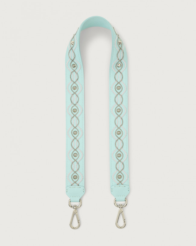 Orciani White Chain leather belt Leather Light Blue