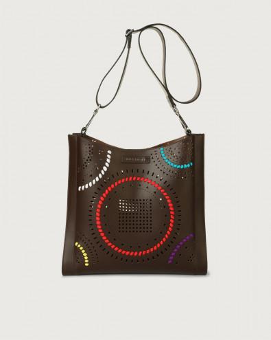 Iris Carioca leather crossbody bag