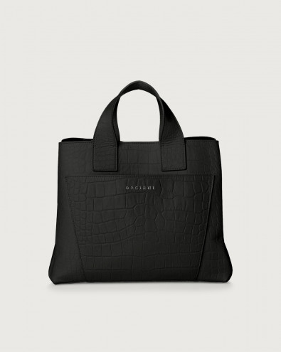 Nora Kindu croc-effect leather handbag