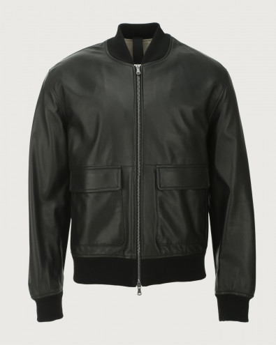 Nappa Nature leather bomber jacket