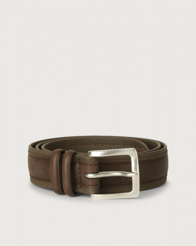 Leisure fabric and leather belt