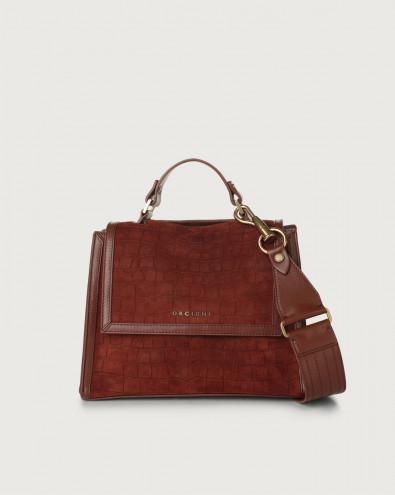 Sveva Coco small suede handbag with strap