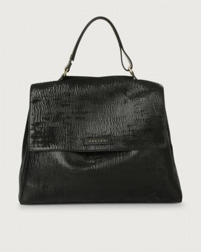 Sveva Cutting large leather shoulder bag with strap