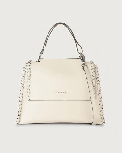 Sveva Liberty Mesh medium leather shoulder bag with strap