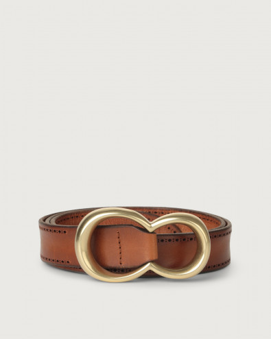 Bull Soft leather belt with brass buckle