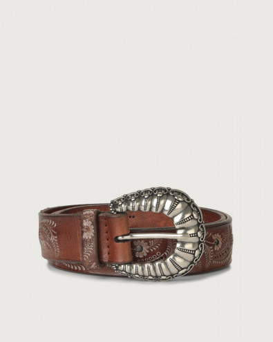 Stain Soapy leather belt