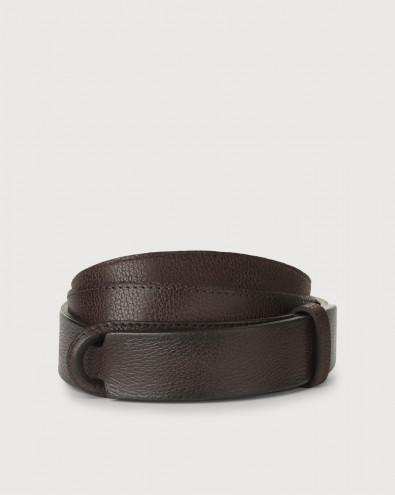 Chevrette leather Nobuckle belt