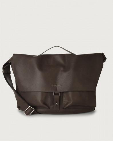 Chevrette nabuck leather crossbody bag