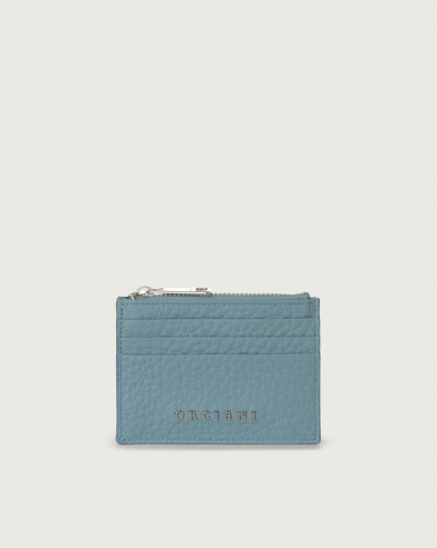 Soft leather card holder with RFID