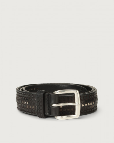 Bull Soft micro-studs leather belt