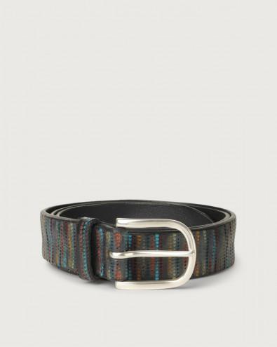 Prick leather belt