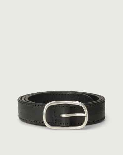 Chevrette nabuck leather belt 3 cm