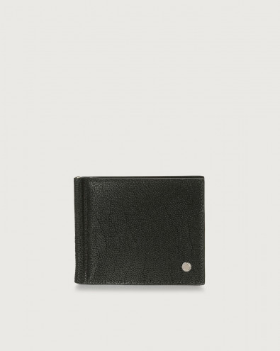 Frog leather wallet with money clip and RFID