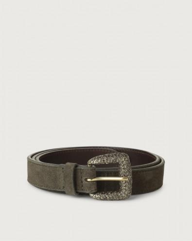 Sensory thin suede belt