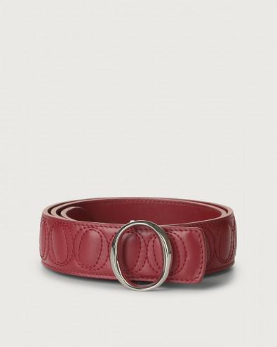 Matelassé leather belt