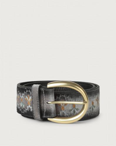 Velvet Tuscania high-waist velvet and leather belt