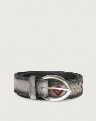 Velvet Majolic velvet and leather belt