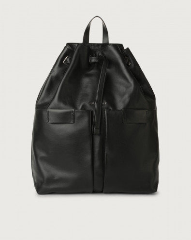 Liberty leather drawstring backpack