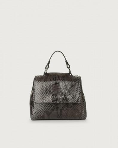 Sveva Diamond mini python leather handbag
