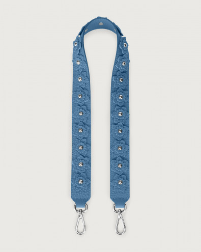 Soft Flower crossbody leather strap
