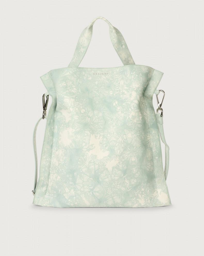 Iris Caleido leather shoulder bag