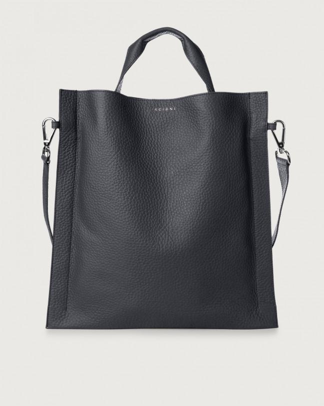 Orciani Iris Soft leather shoulder bag Leather Navy