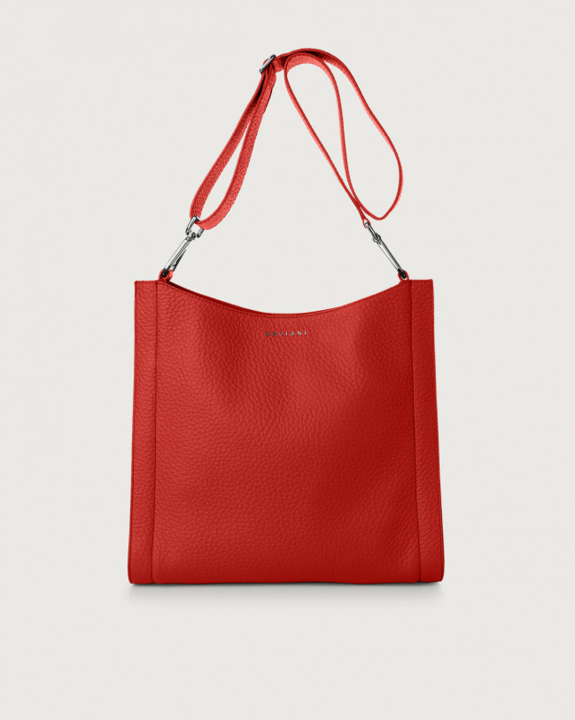 Orciani Iris Soft leather crossbody bag Leather Red