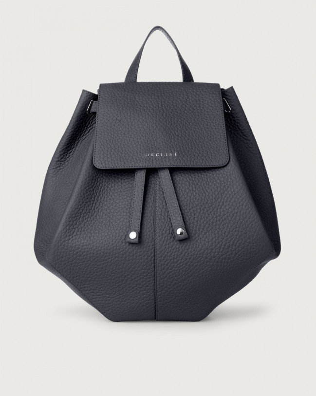 Orciani Iris Soft leather backpack Leather Navy