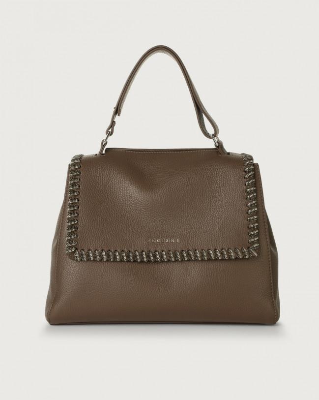 Orciani Sveva Chain medium leather shoulder bag Leather Brown