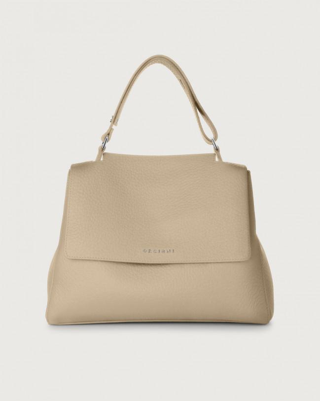 Orciani Sveva Soft medium leather shoulder bag Leather Sand