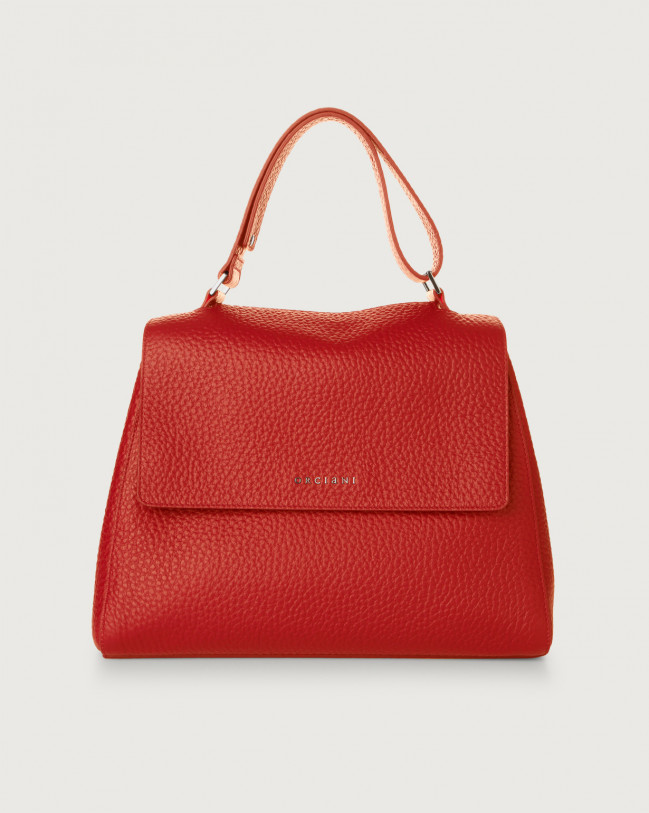 Orciani Sveva Soft medium leather shoulder bag Leather Red