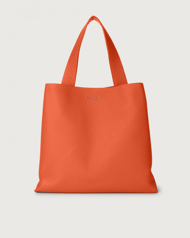 Orciani Jackie Soft leather shoulder bag Leather Coral