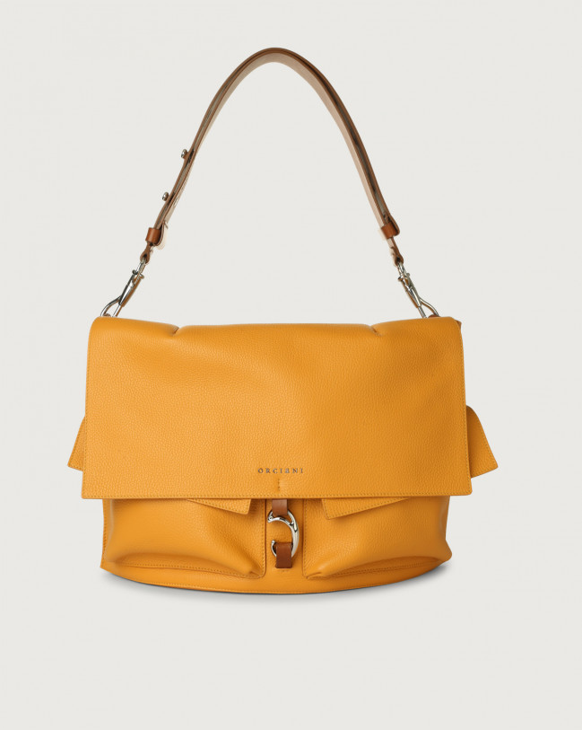 Orciani Scout Micron leather shoulder bag Leather Yellow