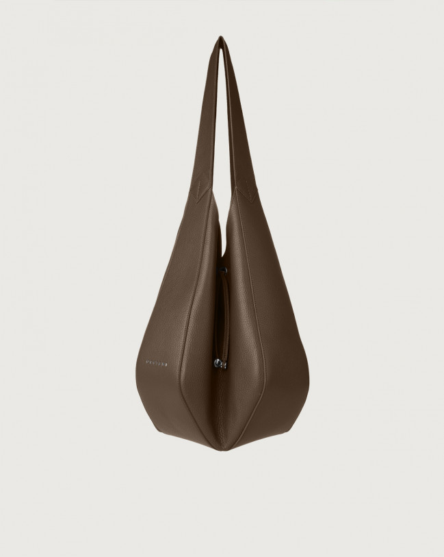 Orciani Palma Micron leather shoulder bag Leather Brown
