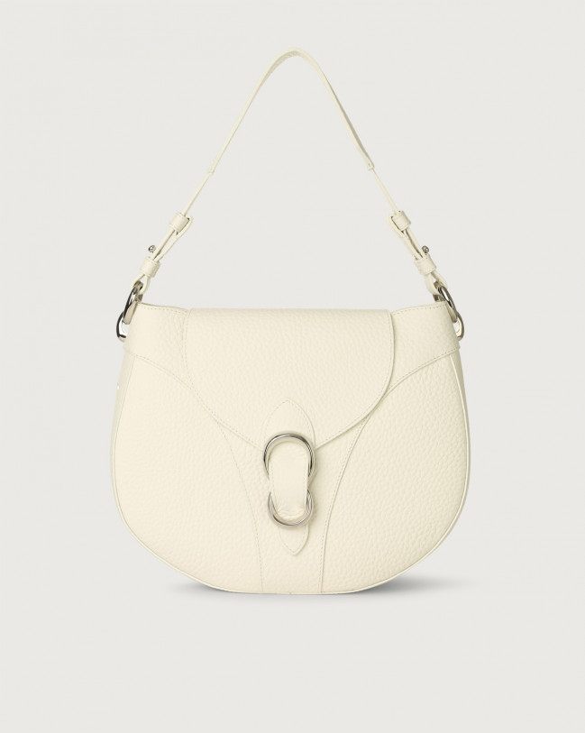Orciani Beth Soft leather shoulder bag Leather White