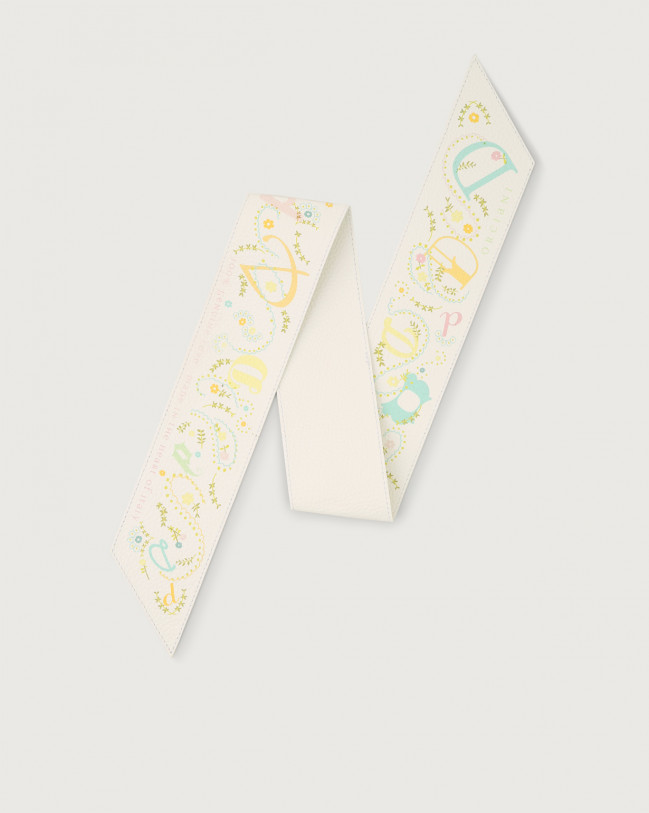 Orciani Letter leather foulard Leather D