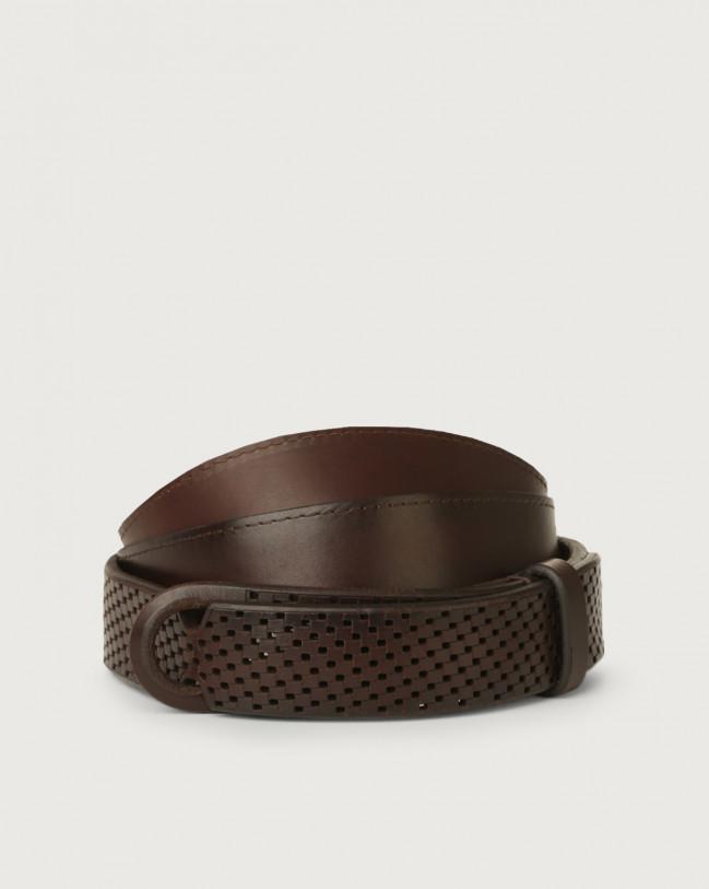 Orciani Bull Soft leather Nobuckle belt Leather Chocolate