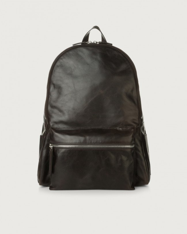 Orciani Artik leather backpack Leather Chocolate