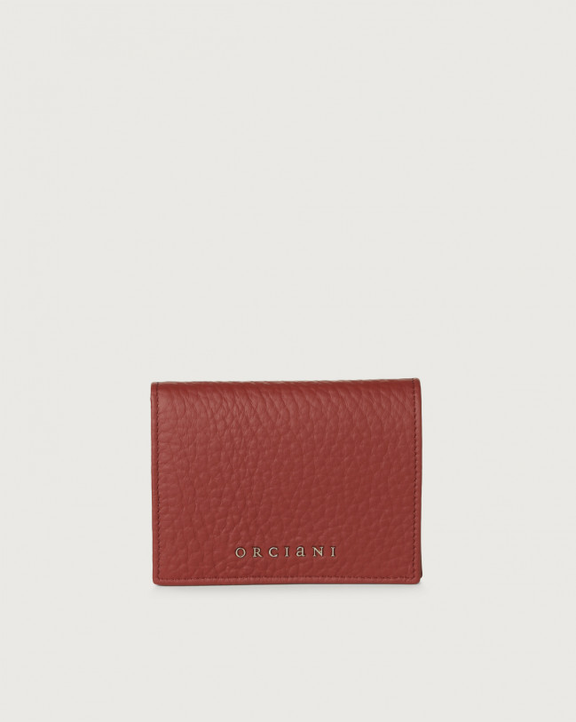 Orciani Soft small leather wallet Leather Dark Red
